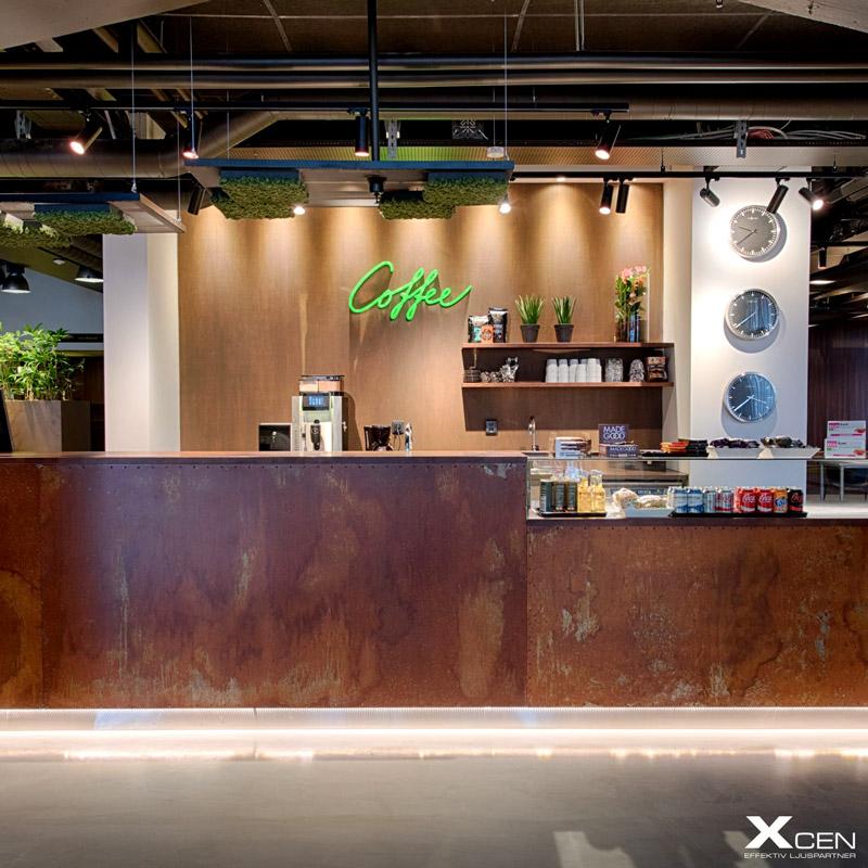 belysning reception cafe wtc malmö